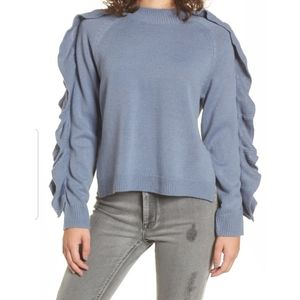 BP pearl ruffle sweater top M